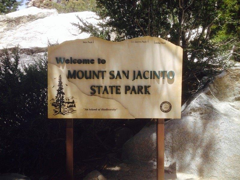 Sign for Mount San Jacinto State Park